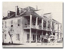 Stage lines began servicing Houston in the 1850s. Home of the cotton industry. The Capitol Hotel was  very popular in horse and buggy days.